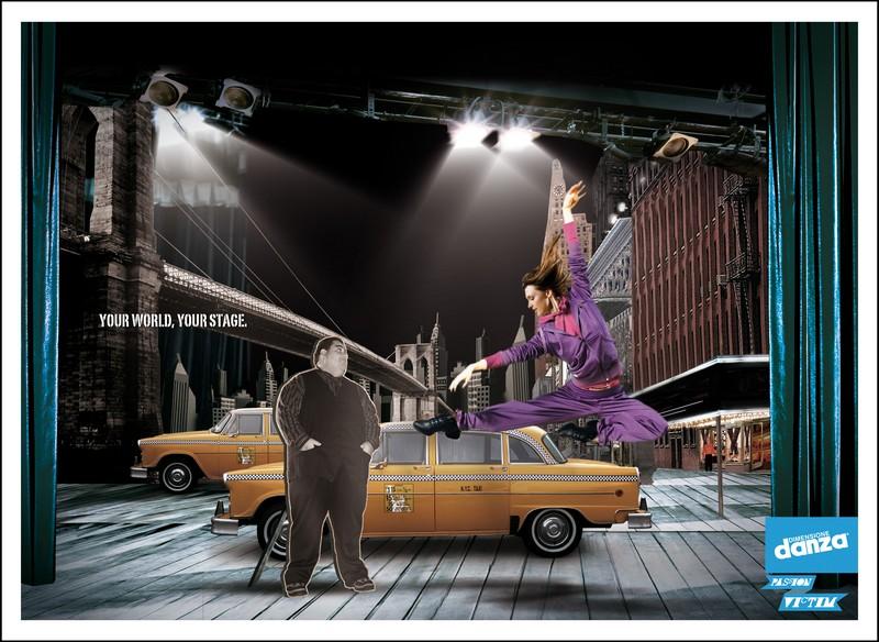 pubblicità dimensione danza