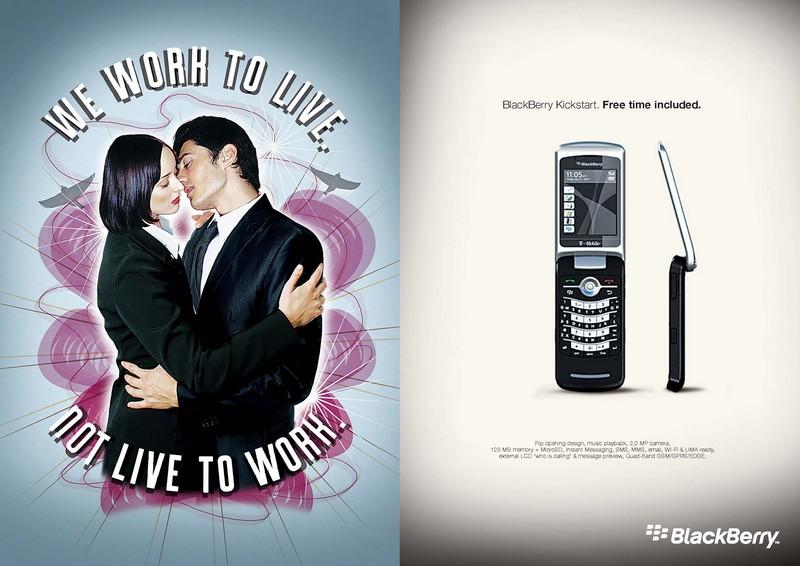 black berry pubblicità