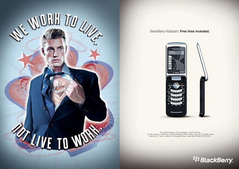 copy writer pubblicità blackberry
