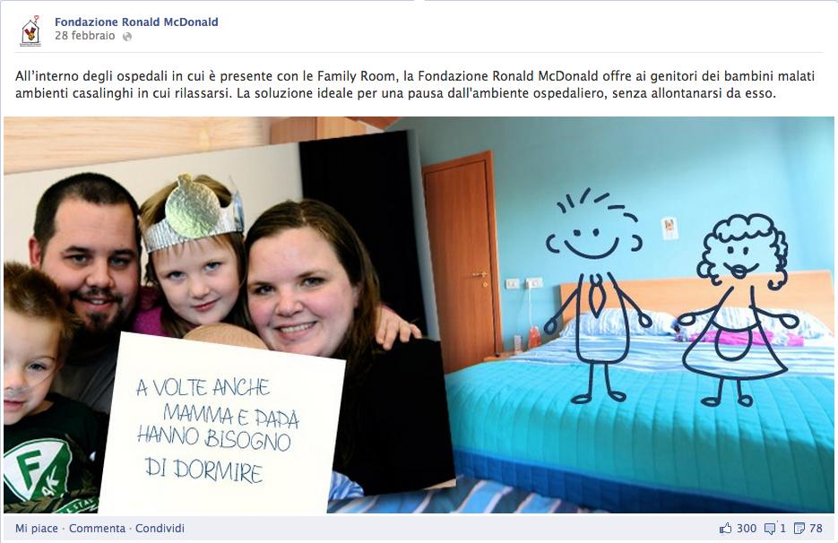 pubblicità fondazione ronald mcdonald