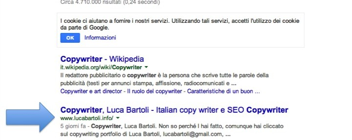 Seo copywriting per un Copywriting portfolio
