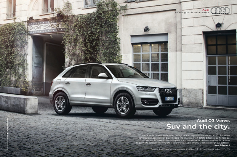 suv and the city pubblicità audi q3 verve