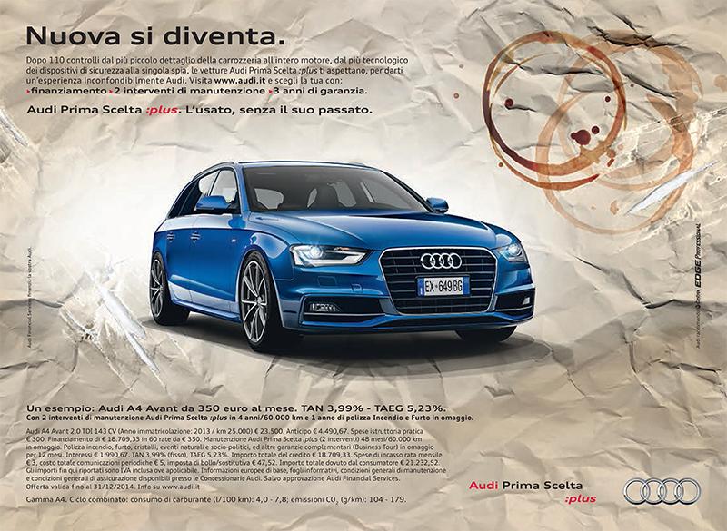 Nuova si diventa Audi Prima Scelta Plus