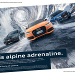 audi Alpine adrenaline automotive copywriter