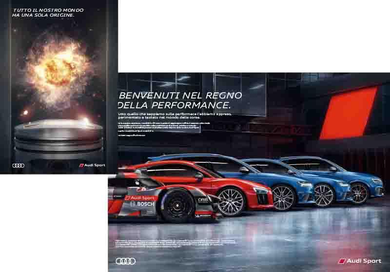 pubblicità audi sport automotive