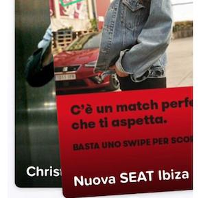Pubblicità su Tinder: Nuova SEAT Ibiza