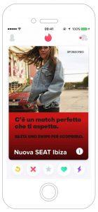 Nuova SEAT Ibiza FR Pubblicità Tinder