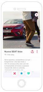 Nuova SEAT Ibiza FR Pubblicità social network Tinder