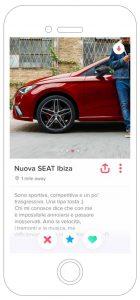 Nuova SEAT Ibiza Pubblicità Tinder Lui