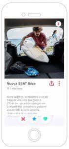 Nuova SEAT Ibiza FR Pubblicità app Tinder