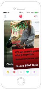 SEAT Ibiza Pubblicità Tinder