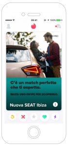 Nuova SEAT Ibiza Pubblicità su Tinder Lei 1