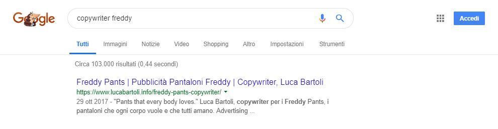 ottimizzazione copywriter freddy