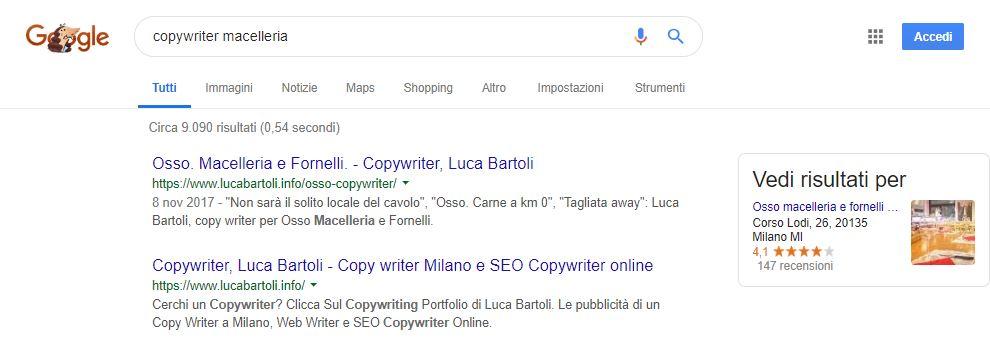 copywriter macelleria
