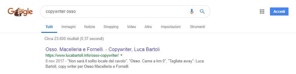 ottimizzazioen copywriter osso