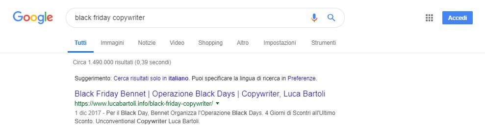 seo black friday copywriter