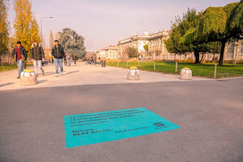 floor stickers guerrilla marketing