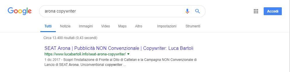 ottimizzazione arona copywriter