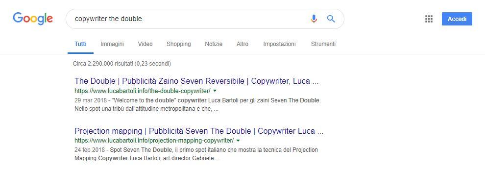 ottimizzazione the double copywriter