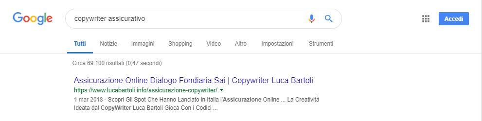 seo copywriter assicurativo