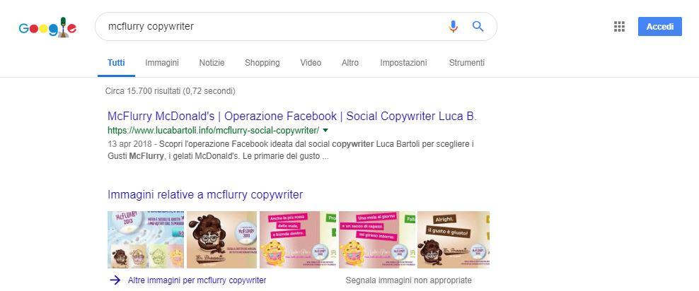 ottimizzazione copywriter mcflurry