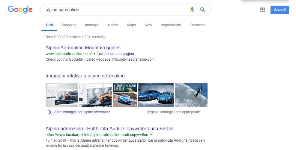 ottimizzazione alpine adrenaline