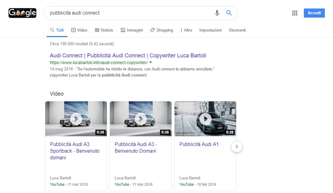 ottimizzazione pubblicità audi connect