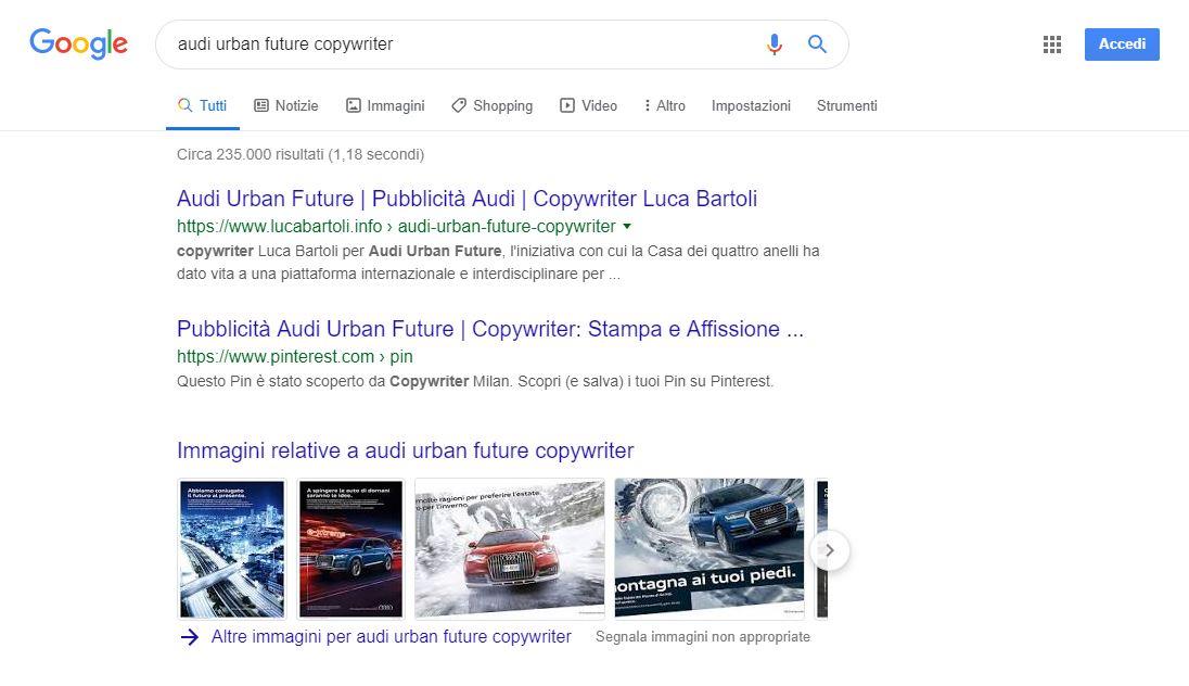 seo copywriter audi urban future