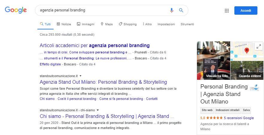 agenzia personal branding