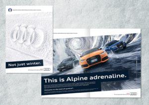pubblicità audi alpine adrenaline