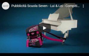 pubblicità zaini scuola seven