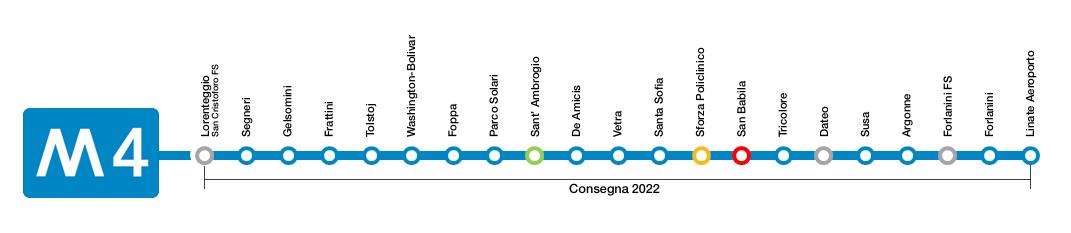 milano m4 metropolitana 4 blu