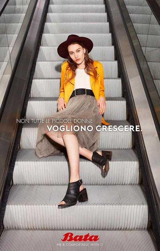 pubblicità scarpe bata copywriter luca bartoli non tutte le piccole donne vogliono crescere