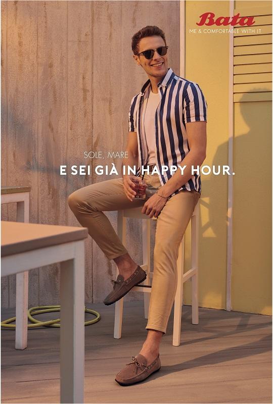 pubblicità scarpe bata copywriter luca bartoli sole mare e sei già in happy hour