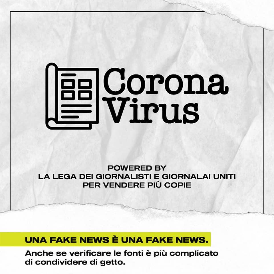 coronavirus notizie giornali giornalisti