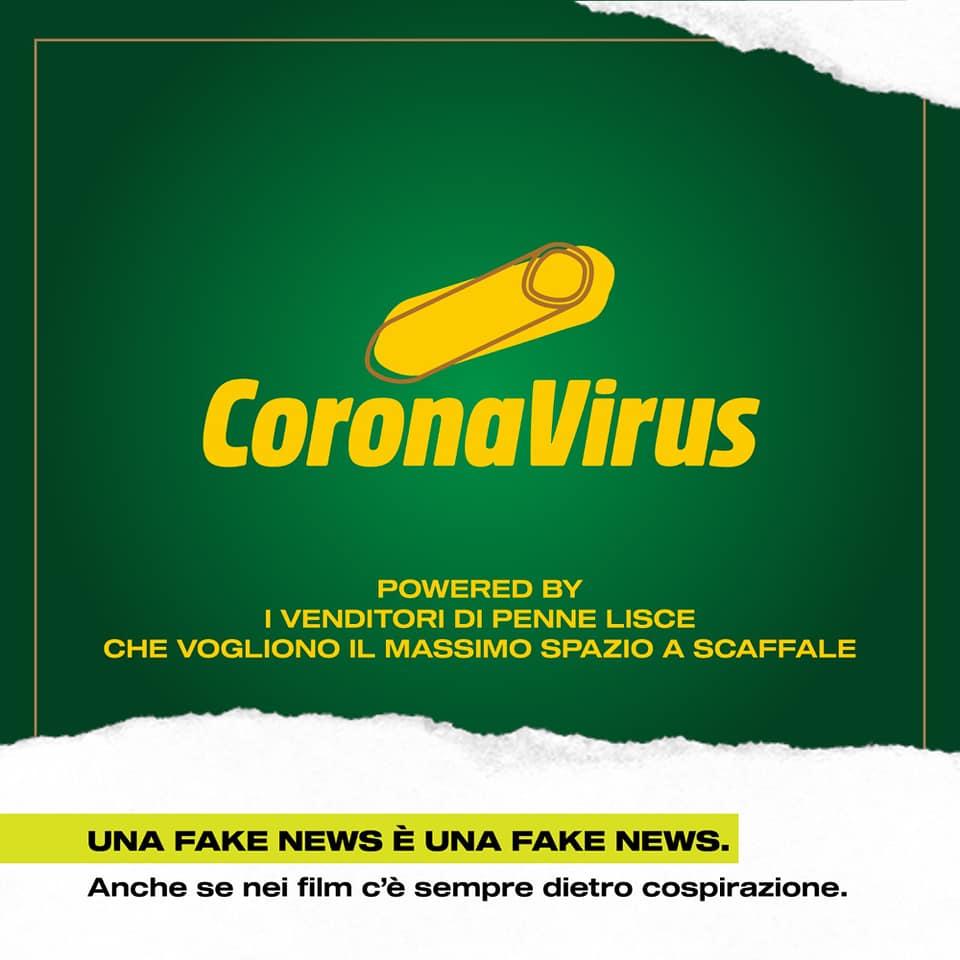 coronavirus penne lisce pasta